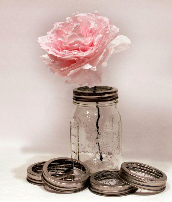 Pint & Quart Sized Mason Jar centerpiece Frog Lids by SweetSights, $12.50