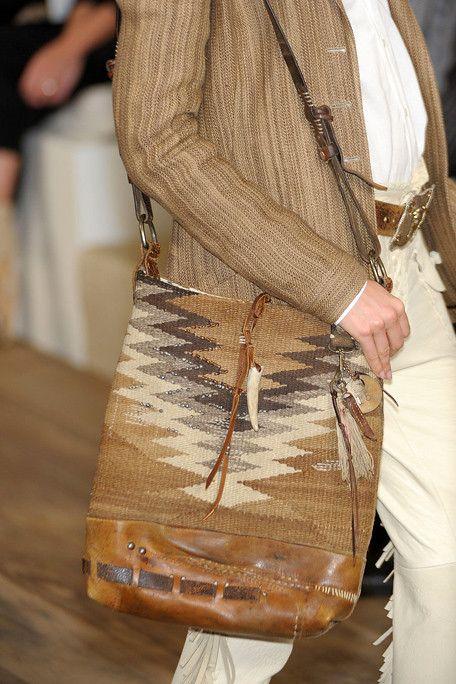 Ralph Lauren / 2012 / Kelim bag / High Fashion / Ethnic & Oriental / Carpet & Kilim & Tiles & Prints & Embroidery Inspiration /