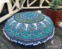 Grote Boheemse mandala floor kussen - dekking alleen