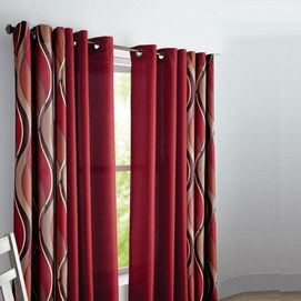 Add a eye catching modern accent to your space with printed grommet top drapes. Layer with coordinating solids to complete the look. #SearsWishlist