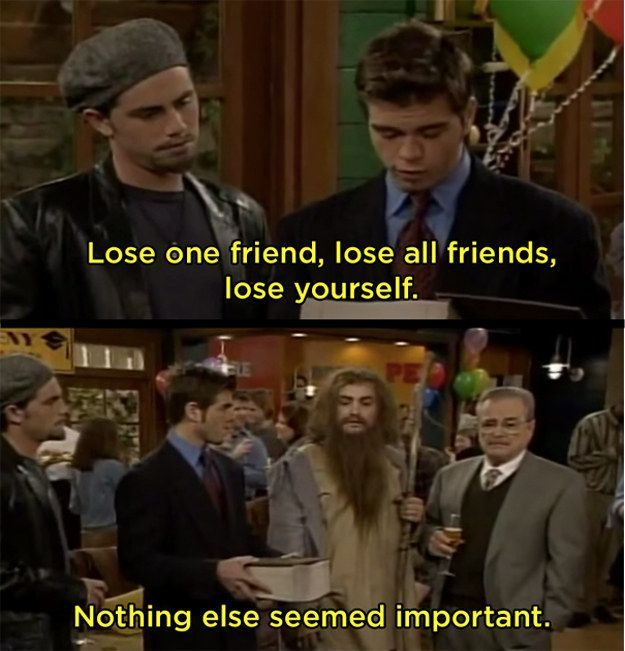 "When they fast-forwarded seven years to Mr. Feeny's retirement party, and no one was friends anymore. | 23 Moments ""Boy Meets World"" Got Way, Way Too Real"