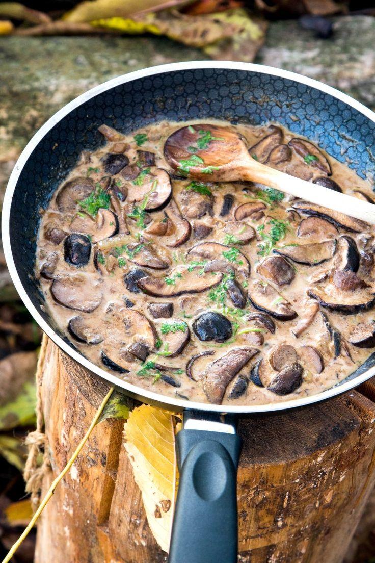 Eine leckere Pilzsauce wird mit Bier zubereitet. Das verleiht der Sauce einen besonderen Geschmack. Sie kann zu unterschiedlichen Gerichten serviert werden.