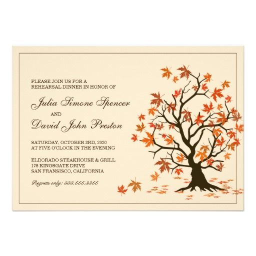 =>Sale on          	Fall Rehearsal Dinner Invitation With Tree           	Fall Rehearsal Dinner Invitation With Tree in each seller & make purchase online for cheap. Choose the best price and best promotion as you thing Secure Checkout you can trust Buy bestDeals          	Fall Rehearsal Dinne...Cleck Hot Deals >>> http://www.zazzle.com/fall_rehearsal_dinner_invitation_with_tree-161920883479347652?rf=238627982471231924&zbar=1&tc=terrest