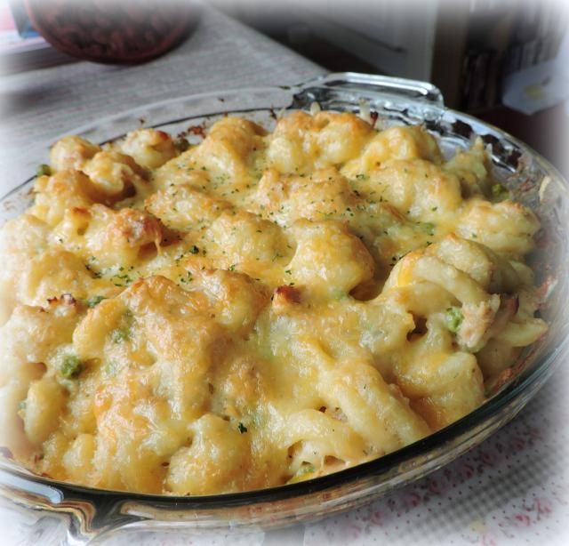 Cheesy Tuna Bake..This is a tasty casserole.  It's simple to make, economical and delicious!!