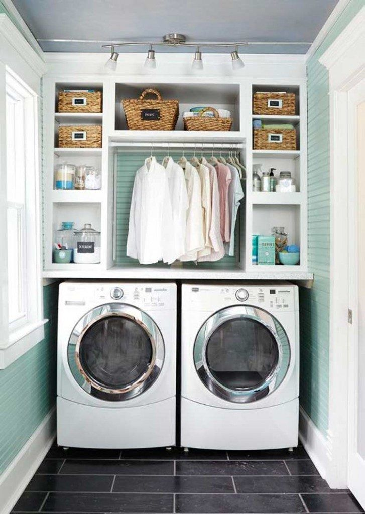 25 best ideas about laundry cupboard on pinterest for Washer and dryer in kitchen ideas