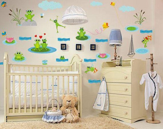 Wall+Sticker+Frogs+2635f+by+artstickercouk+on+Etsy,+£22.00