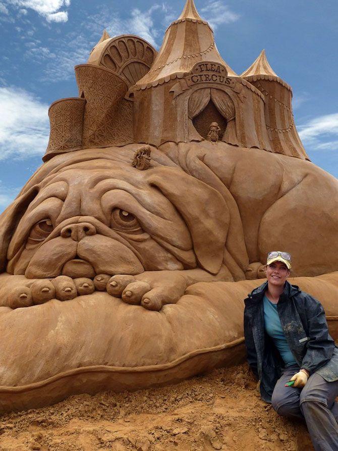 Скульптуры из песка Сюзанны Руселер