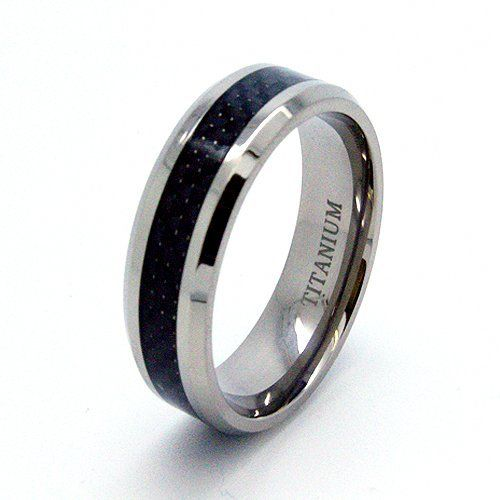 blue chip unlimited 8mm titanium black carbon fiber inlay band wedding band designer fashion - Hypoallergenic Wedding Rings