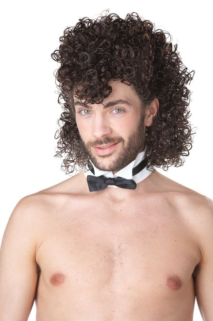 Girls Night Out Jheri Curl Wig - With a tight curl and plenty of bounce, this Girls Night Out Jheri Curl Wig is the perfect finishing touch to any costume. This wig is suitable for men and women alike, and is a great accessory for any disco-themed party or costume.  Imagine this wig with any fantastic 80s costume! #mullet #80s #wig #yyc #costume