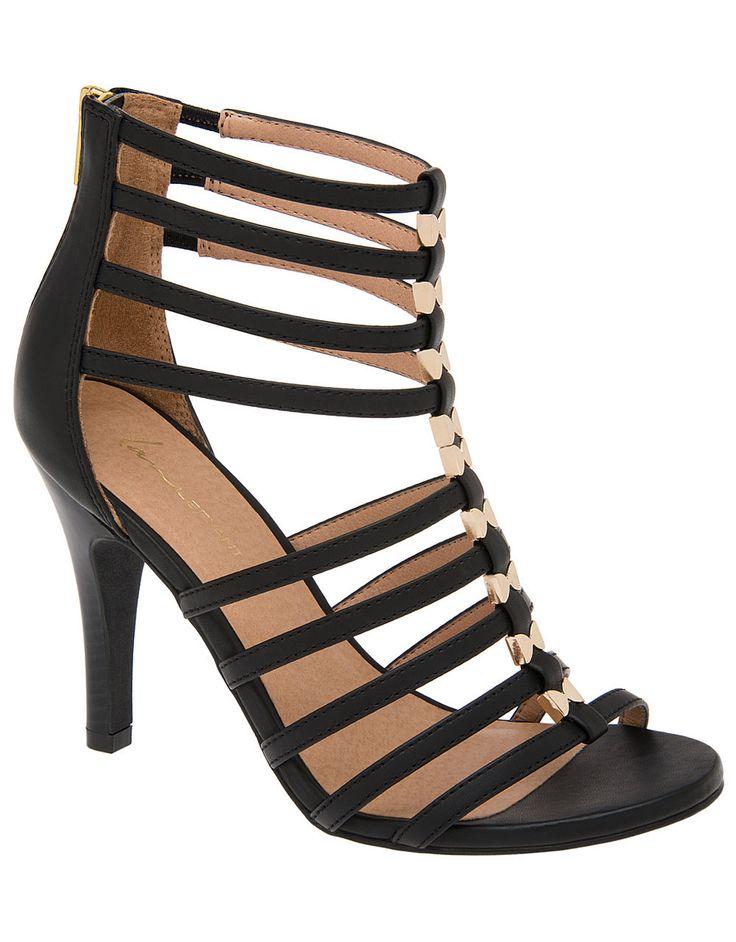 Caged heeled sandal | Lane Bryant