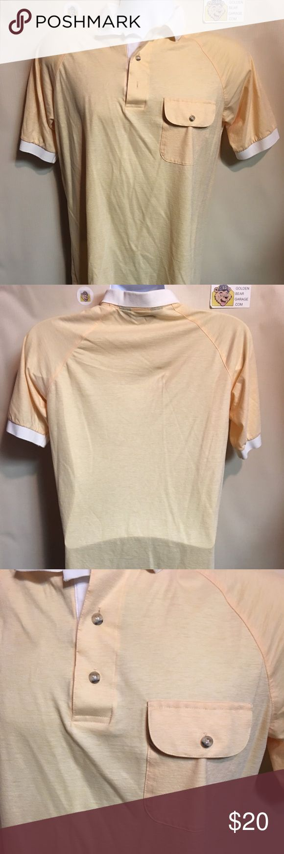 Vintage Hathaway Yellow Golf Polo Dress Shirt Vintage Men's Medium Hathaway by Jack Nicklaus Yellow Button Up Polo Dress Shirt. In excellent condition with no major flaws hathaway Shirts Polos