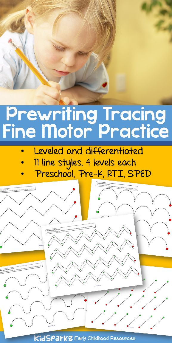 38 pages of fine motor practice - print and laminate for wipe-off centers.