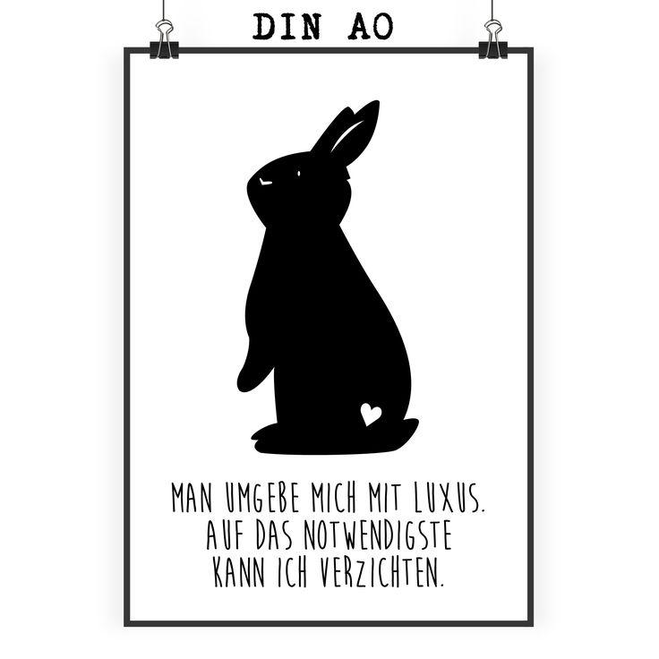 Poster DIN A0 Kaninchen Hase aus Papier 160 Gramm  weiß - Das Original von Mr. & Mrs. Panda.  Jedes wunderschöne Motiv auf unseren Postern aus dem Hause Mr. & Mrs. Panda wird mit viel Liebe von Mrs. Panda handgezeichnet und entworfen.  Unsere Poster werden mit sehr hochwertigen Tinten gedruckt und sind 40 Jahre UV-Lichtbeständig und auch für Kinderzimmer absolut unbedenklich. Dein Poster wird sicher verpackt per Post geliefert.    Über unser Motiv Kaninchen Hase  Die Nagetiere sind bei…