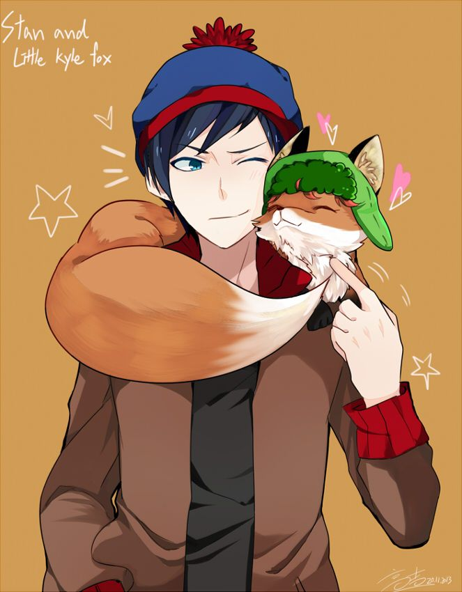 Stan and little Kyle fox by shiron2611 on deviantART