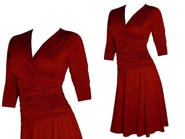 Entdecke lässige und festliche Kleider: OUTLET Kleid Gr.36 rauchblau NP 89 Euro made by ungiko via DaWanda.com