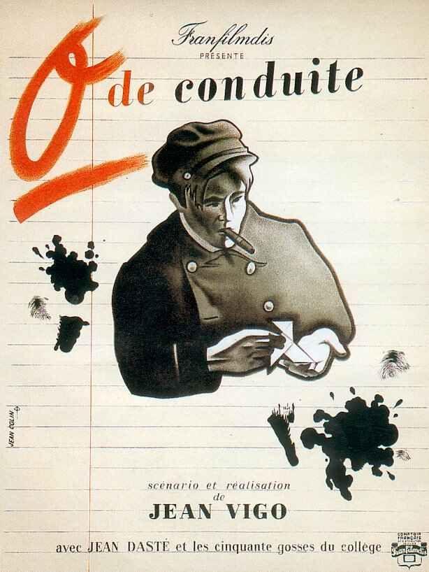 Zero de Conduite/Zero for Conduct (1933-France) dir. Jean Vigo. A group of boys (Louis Lefebvre, Gilbert Pruchon, Gerard de Bedarieux, and Constantin Goldstein-Kehler) at a repressive boarding school rebel against their teachers and midget headmaster (Delphin).