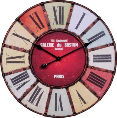 Wohnling WOHNLING Wanduhr XXL Ø 60 cm Galerie Küchenuhr Vintage-Look Bahnhofsuhr modern Römische Ziffern mehrfarbig stilvoll Jetzt bestellen unter: https://moebel.ladendirekt.de/dekoration/uhren/wanduhren/?uid=072b214c-6774-5eed-b068-ce66abcbfff0&utm_source=pinterest&utm_medium=pin&utm_campaign=boards #heim #uhren #dekoration