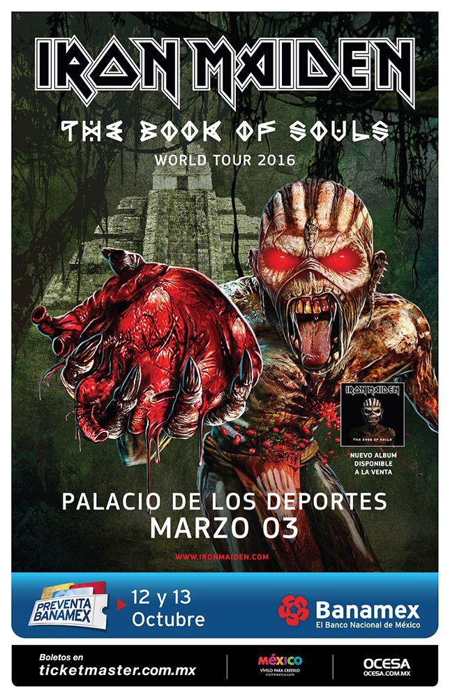 Iron Maiden, 3 de marzo, Palacio de los Deportes #BookOfSoulsMx