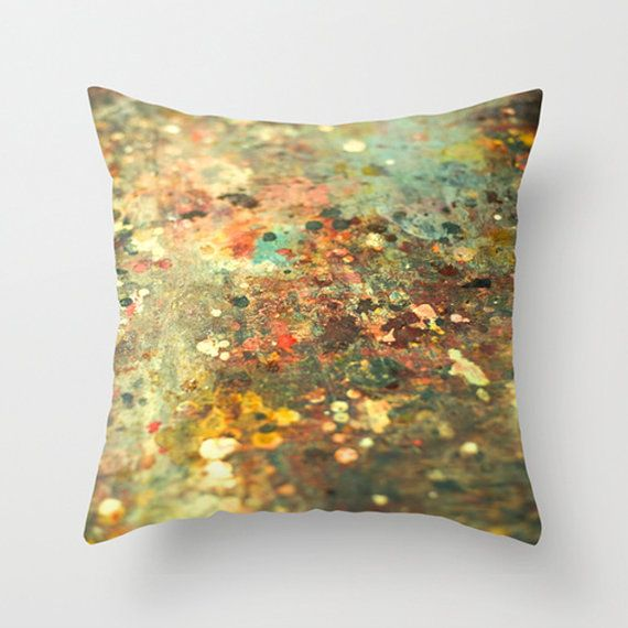 Abstract Paint plush pillow throw pillow by HappyPillowShop, $37.00