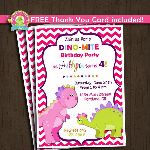 200 best girl dinosaur birthday party images on pinterest dinosaur birthday invitation dinosaur party by foreveryourprints filmwisefo