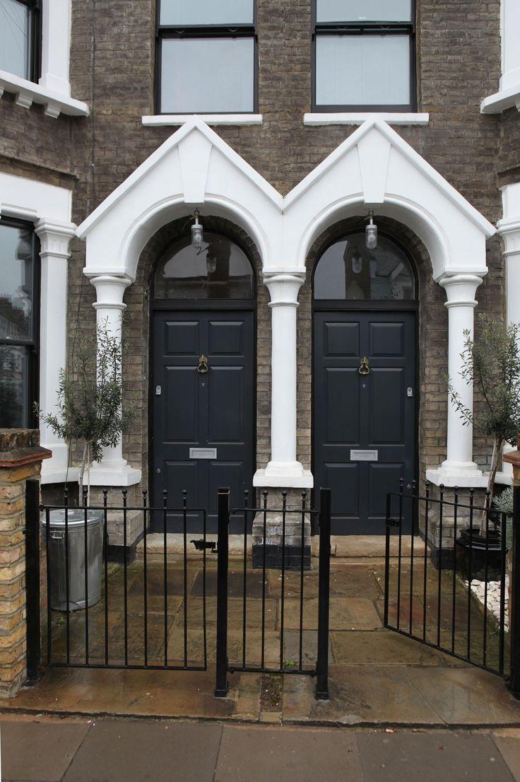 London townhouse doors