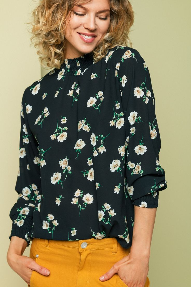 Bluse Juliet Anemone Black fra Floyd by Smith