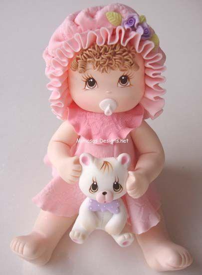 Bebé Bonet con oso de peluche de la torta