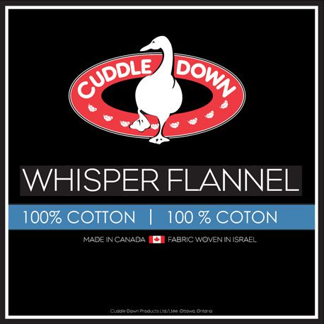 Whisper Flannel by Cuddle Down Canada, available in White, Ivory and Pebble