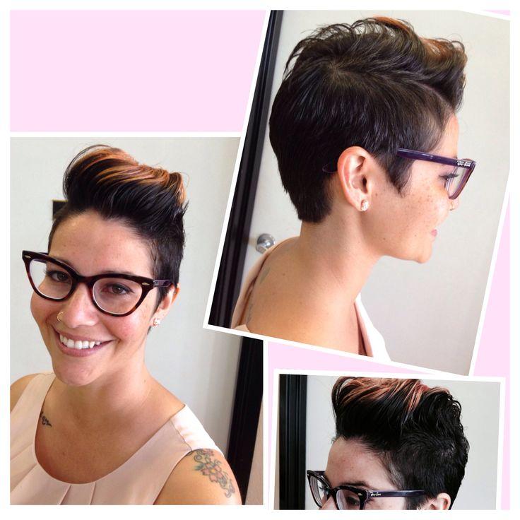 My New Do. Faux Hawk. Short Hair. Pixie Cut. Woman's