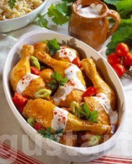 Tejfölös paprikás csirke galuskával