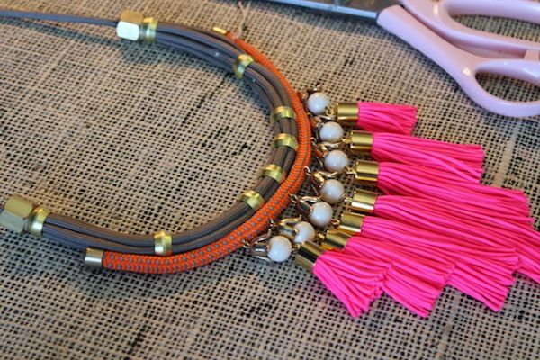 not my style but love it for inspiration =) Tassel rope necklace