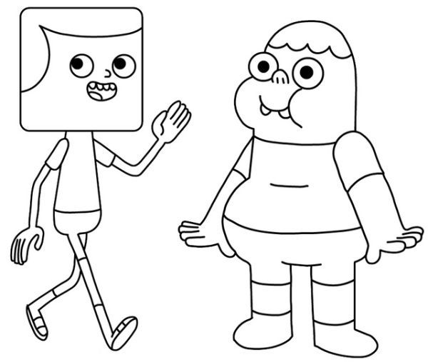 printable clarence coloring pages