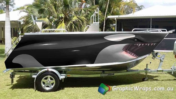 Orca Killer Whale Boat Wrap