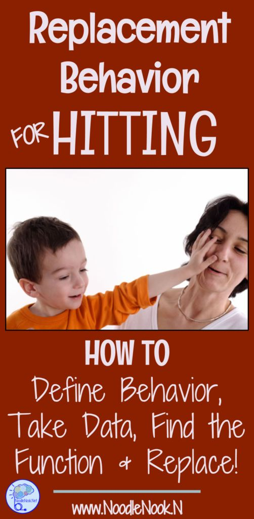 How to find and implement replacement behavior for hitting while working with students with Autism or Significant Disabilities PLUS FREE Data Sheet!
