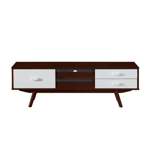 "Found it at AllModern - Retro Wood Veneer 65"" TV Stand with Storage"