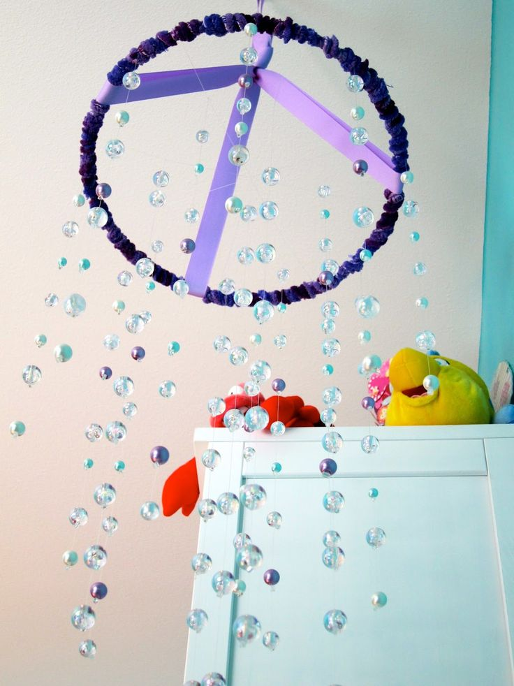 All Sorts of Random: Little Mermaid Room Bubble Mobile Tutorial