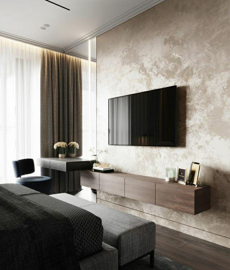 ديكورات جدارية Modern Luxury Bedroom Luxurious Bedrooms Modern Bedroom Design