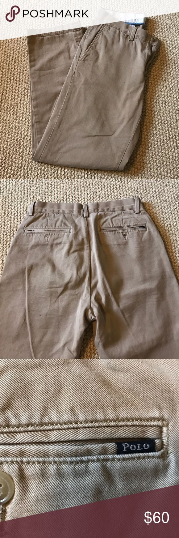 Men's Polo Ralph Lauren khaki's Men's Polo Ralph Lauren khaki's! Size 30/30. Classic fit. Only worn a few times! Polo by Ralph Lauren Pants Chinos & Khakis