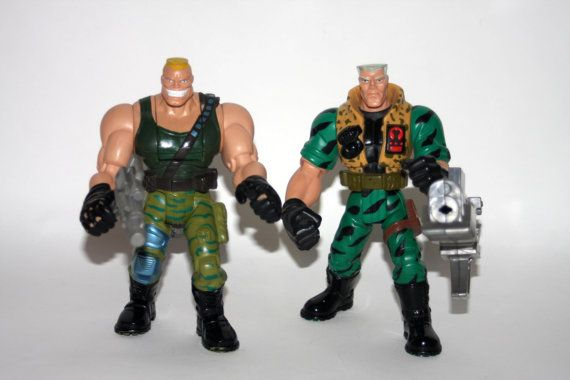 Small Soldiers Brick Bazooka  Chip Hazard Lot of 2 Action Figures Vintage 1990s by nodemo