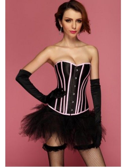 Overbust Corset with Stunning Contrasting Lines a webshopban #divat #fashion #corset #tanitafashion #sexy #present http://j.mp/tf-overbust-corset