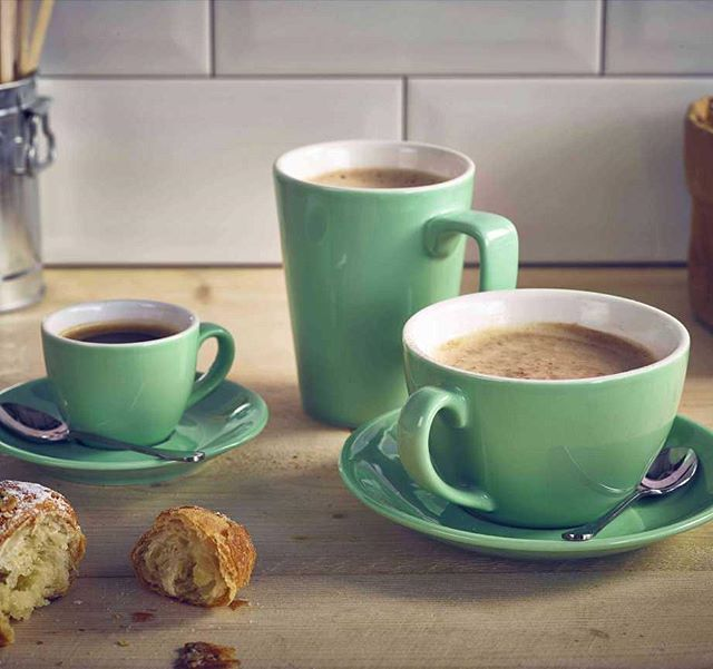 We have some gorgeous, unique coloured coffee & espresso cups now in stock! Shop at Hugh Jordan! #coffee #cups