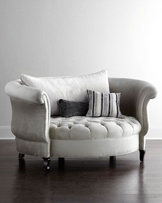 Harlow Cuddle Chair by NM EXCLUSIVE at Horchow. I am deeply in love with this chair!!