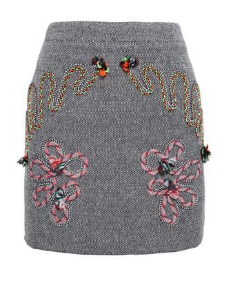 STELLA MCCARTNEY - Wool Mini Skirt with Cord Detail