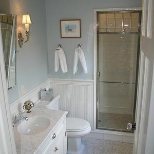 Chrome and Glass Shower Door, Transitional, bathroom, Graciela Rutkowski Interiors
