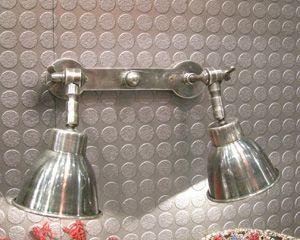 Double applique murale spot en nickel chehoma luci - Applique murale double ...