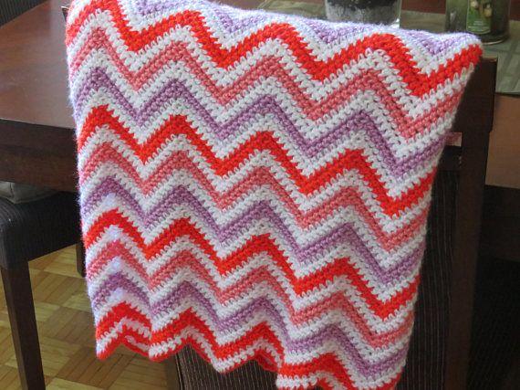 La glace ripple crocheted patio blanket/throw