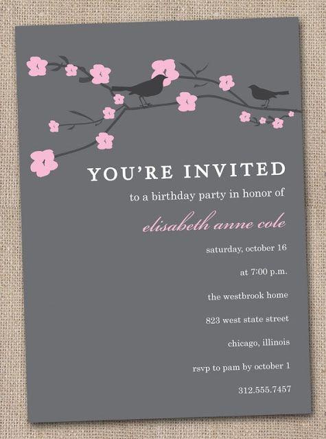 180 best CHERRY BLOSSOM WEDDINGS images on Pinterest Cherry - fresh birthday party invitation in japanese