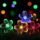ASSIS Holiday Clearance Garland with Lights Outdoor Solar Lights String  50 LED 23Ft Patio Decorations Decorative... christmas deals week