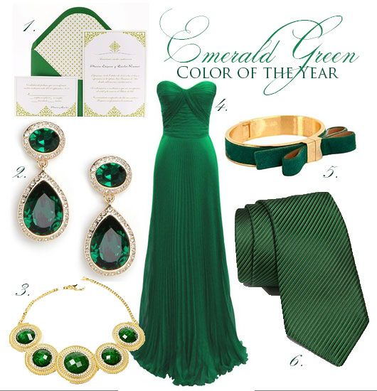 emerald green wedding inspiration