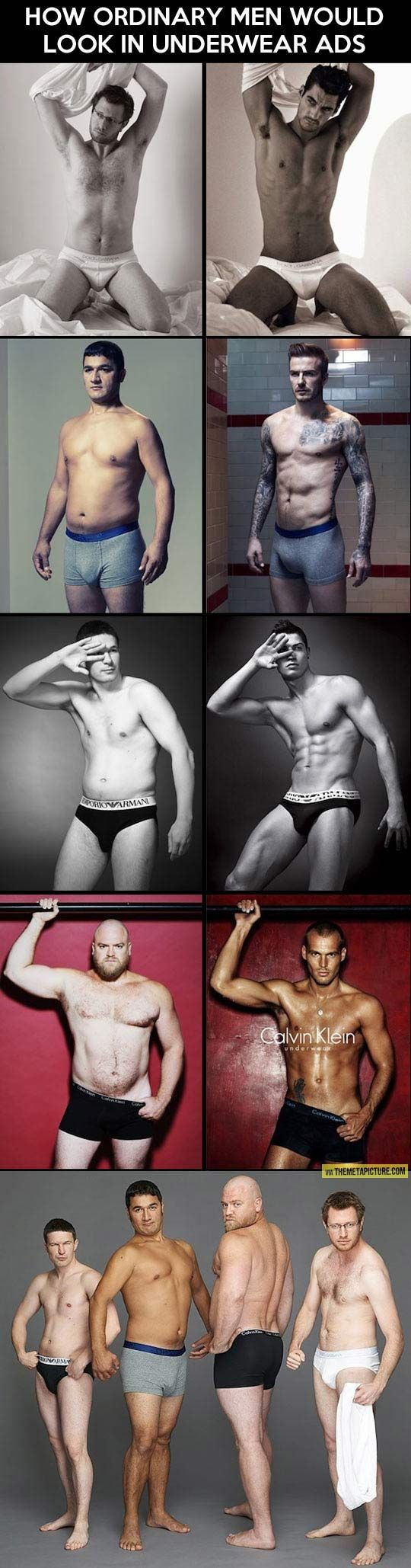 How Ordinary Men Would Look In Underwear Ads - Sarcastic Charm